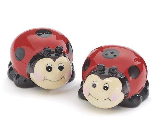- Whimsical Ladybug Lady Bug Salt and Pepper Shaker Set for Kitchen Decor