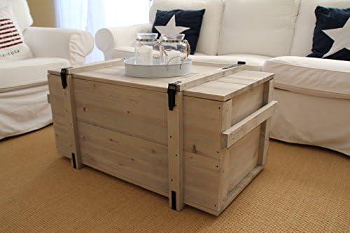 Installazione in legno stile Shabby Chic merci scatola vintage bagagliaio installazione di trasporto Tavolino Grigio
