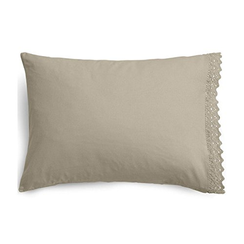 DKNY Pure Comfort Organic Crocheted Decorative Throw Pillow Dune