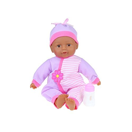 "Search : Lollipop Toys Little Sweetheart African American Doll with Bottle, 13"" L"