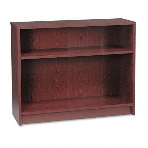 HON 1870 Series Bookcase, 2 Shelves, 36 W by 11-1/2 D by 29-7/8 H, Mahogany
