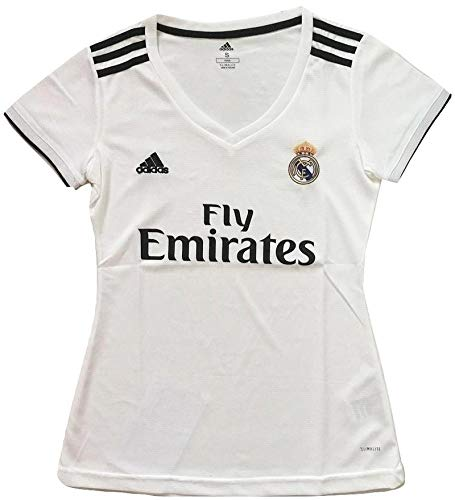 - Simeonka-Hrisy Slimfit Women's 2018-2019 Real Madrid Home Soccer Jersey White (Women's Medium)