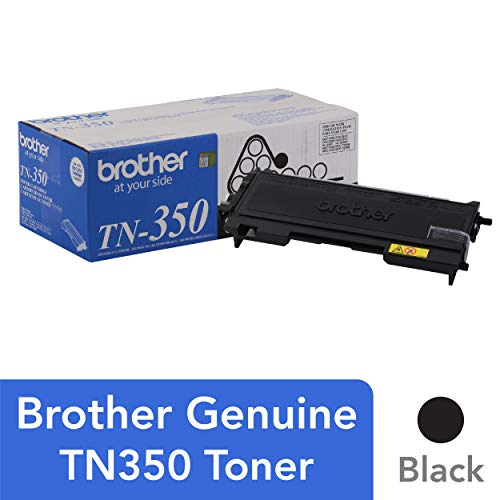 Brother Genuine Black Toner Cartridge, TN350, Replacement Black Toner, Page Yield Up To 2,500 Pages