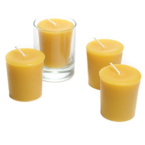 Bluecorn Beeswax 100% Pure Beeswax Votives (18 Case, Raw)