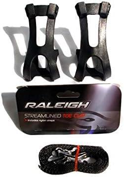 Raleigh - Pedales para Bicicletas (calapiés, plástico, Color, Correa, reflectores, Correa Clip, Plataforma), Color Negro: Amazon.es: Deportes y aire libre