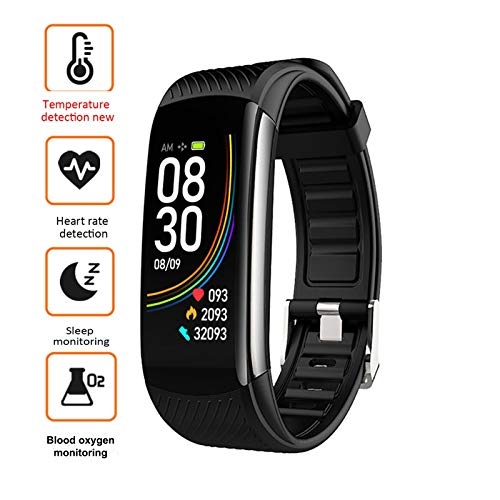 Fitness Tracker, Activity Tracker with Body Temperature, Heart Rate blood oxygen Blood Pressure Monitor, Waterproof…
