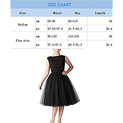 Women 5 Layers Tulle Skirt - Tea Length High Waist Bridal Midi Skirt Tutu forWedding Party Evening: Clothing