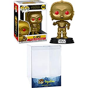 C-3PO: Funk o Pop! Vinyl Figure Bundle with 1 Compatible 'ToysDiva' Graphic Protector (360 – 48222 – B)
