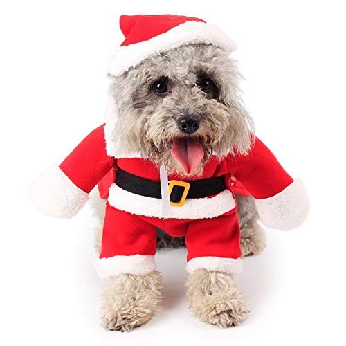 Costumes For Your Cat (Topsung Dog Christmas Costumes Pet Cat Clothes Sweater Small Dog Santa Suite with Hat Xmas Jumpsuit)