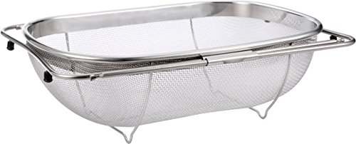 Pro Chef Kitchen Tools Stainless Steel Over the Sink Strainer - 6 Quart Fine ...