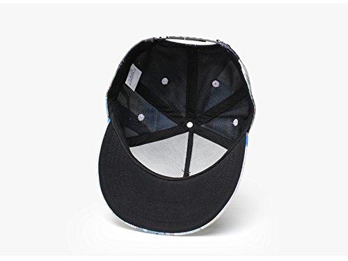 JiaCH Baseball Cap 3D Print Graffiti Personality Tide Street Dance Hip Hop Cap Fashion Hat for Men Women
