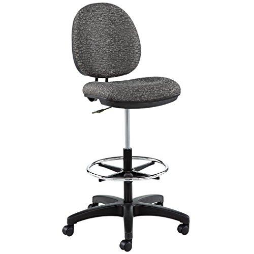 Alera ALEIN4641 Interval Series Swivel Task Stool, Tone-On-Tone Fabric, Graphite Gray - Waterfall Edge Desk Shell