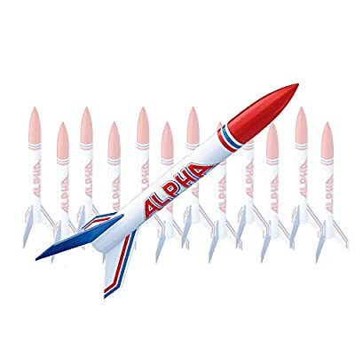 Estes Alpha Flying Model Rocket Bulk Pack (Pack of 12) | Intermediate Level Rocket Kit |Soars up to 1000 ft. | Step-by-Step Instructions | Science Education Kits | Great for Teachers, Youth Group Lead: Industrial & Scientific