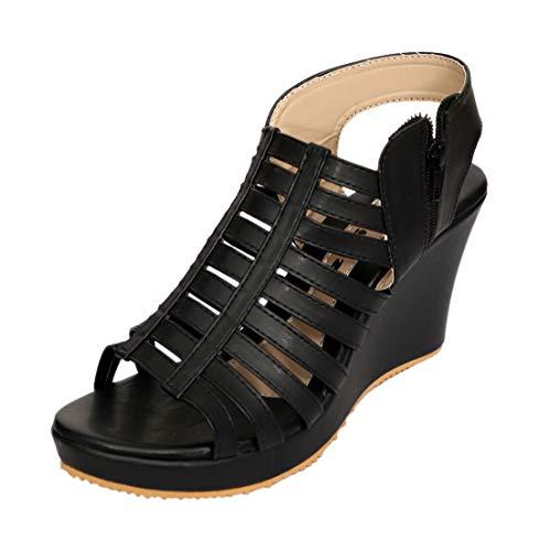 Dolphin Miles Women's Fashion Sandals, 52364blk-$Parent SKU