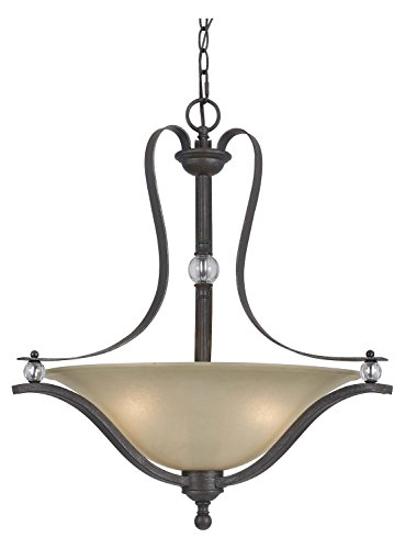 Riverton Pendant Finish - Dark Bronze Riverton 3 Light Bowl Shaped Pendant