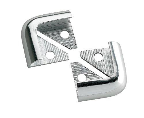2m x 5 Pack Decorative Cladding Finishing Bead Chrome//Silver Quadrant Trim