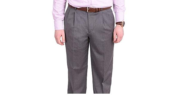 STAFFORD BIG /& TALL FLAT FRONT DRESS PANTS Size 46W 34L Mid Grey MSRP $80