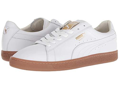 [PUMA(プーマ)] メンズランニングシューズ?スニーカー?靴 Basket Classic Gum Deluxe Puma White/Metallic Gold 7.5 (25.5cm) D - Medium