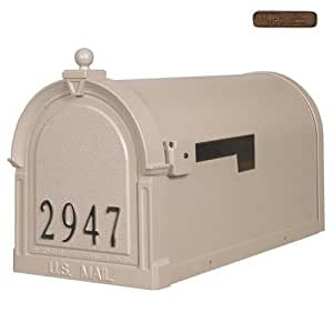 Berkshire SCB-1015-FN-CP Berkshire Curbside Mailbox with Front Numbers-Copper