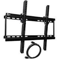 Fortress Mount TV Wall Mount for 40-75 TVs up to 165 lbs with 9-feet Braided HDMI Cable