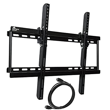 Fortress Mount TV Wall Mount for 40-70  TVs up to 165 lbs with 9-feet Braided HDMI Cable