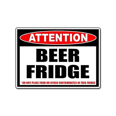 Beer Only Frig Refrigerator Vinyl Decal Sticker