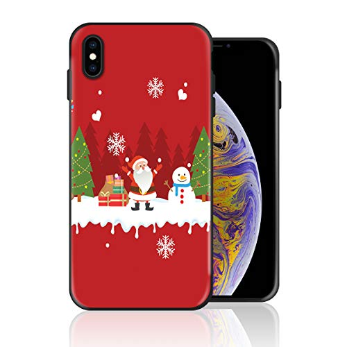 Silicone Case for iPhone 6s and iPhone 6, Xmas Themed Santa Claus Snowman and Cookie Man Design Printed Phone Case Full Body Protection Shockproof Anti-Scratch Drop Protection Cover -