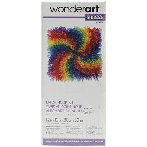 Wonderart Shaggy Pinwheel Latch Hook Kit, 12