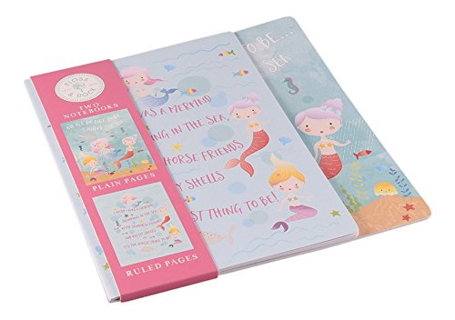 Floss & Rock Mermaid Under the Sea Creatures 2 Piece Ruled and Plain Notebooks Set