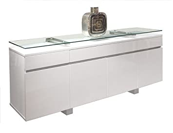 white office credenza. modern white lacquer credenza with premium floating glass top office 6