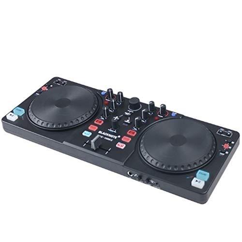 - WANGYONGQI with Sound Card DJ Controller CD Players DJ disc Player Digital One Machine can Sound Mixing DJing Monitor Shouting Microphone