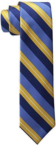 Wembley Men's Versailles Stripe Tie,Yellow,One Size (Boys Necktie Tie)