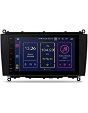XTRONS Android 10 Car Stereo Radio Player Octa Core 4G RAM 64G ROM GPS Navigation 8 Inch Touch Screen Qualcomm Bluetooth Head Unit Support Android Auto OBD2 DVR TPMS for Mercedes Benz CLK A209 C209