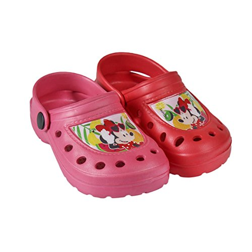 Minnie Disney Mouse Zueco de Playa Crocs Niñas Rosa