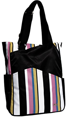- Glove It Women's Tennis Tote Bag Big Fashion Tote Bag for Women - Womens Large Tote Bags with Zipper & Shoulder Strap - 6 Outside Pockets - Ladies Sport Totes - 2018 Cabana Stripe