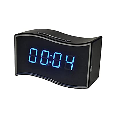 Eyerayo Alarm Clock Camera Full HD 1080P 12pcs x-red Night Vision (Android/IOS Monitoring) P2P WIFI Clock HD Video Camera / Wireless RJ45 Clock Hidden camera FTP Alarm Surveillance Camera Pinhole Secuirty Equipment USB Nanny Micro Spygear Spycamera Wirele