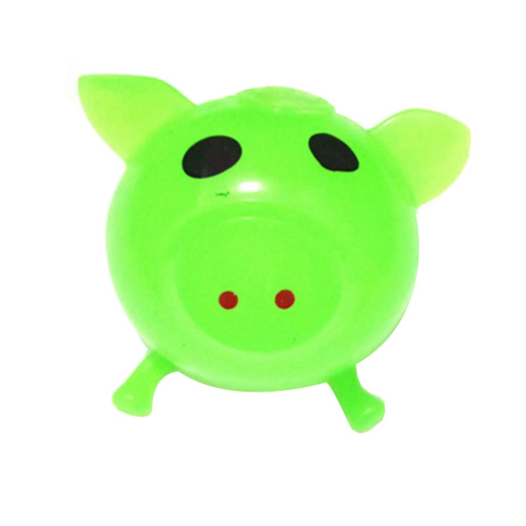 Pet1997 Decompression Puzzle Plaything, 1Pcs Jello Venting Pig Dolls, Cute Anti Stress Splat Water Pig Ball, Vent Toy Venting Sticky - Blue, Orange, Pink, Green, Purple (Green)