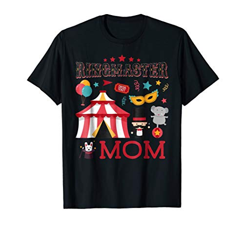 Cute Ringmaster Mom T-shirt Circus Carnival Theme Party ()