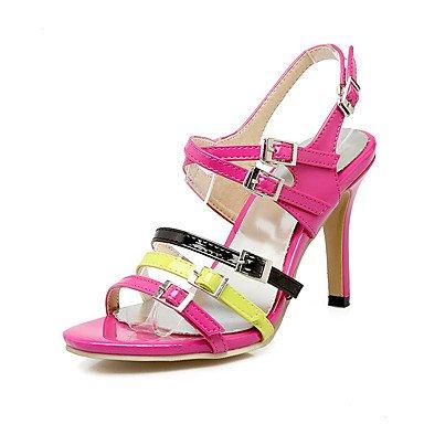 LvYuan Mujer-Tacón Stiletto-Otro-Sandalias-Vestido Informal Fiesta y Noche-Cuero Patentado-Rosa Rojo Beige Pink