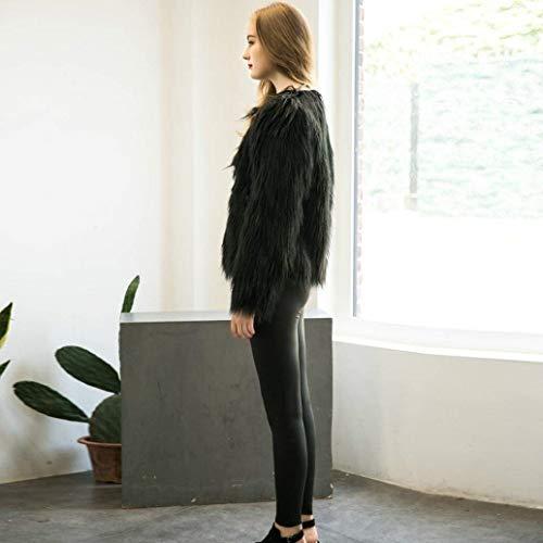 Invernali schwarz Casual Corto Outwear Ragazze Autunno Similpelle Pelliccia Giacca Fashion Cappotto In Stlie Donna Manica Giacche Grazioso B Lanceyy Lunga Eleganti Sintetica fO1wXqU