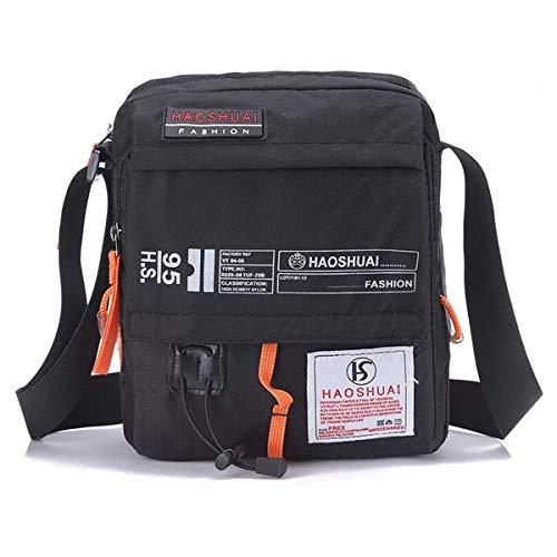 JAKAGO Waterproof Messenger Bag Shoulder Crossbody Bag Mobile Phone Pouch Passport Holder Mens Purse Bag 10.1 inch Tablet Bag Work Field Bag for Travel Hiking Camping Outdoor Sport (Black) (Universal Messenger Bag)