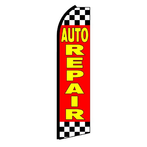 NEOPlex Auto Repair Checkered Swooper Flag Review
