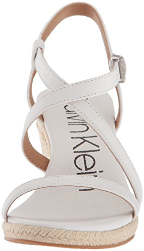 free shipping in China release dates authentic Calvin Klein Women's Bellemine Espadrille Wedge Sandal Platinum White discount perfect cheap sale sale order online e5csmxG1