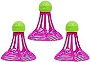 Wobekuy Windproof Badminton Outdoor Badminton Windproof Plastic Ball Nylon Shuttlecock Stable Resistance Sport