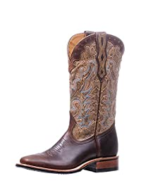 Boulet Western Boots Womens Rider Stockman Pull Tabs Gerico Brown 5181