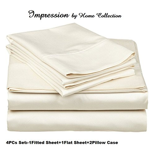 Collection 6 Piece Bedroom Suite (Impression by Home Collection 400 Thread Count 100% Egyptian Cotton Rich 4-Piece Bed Sheet Set (Fitted Sheet +6 inch Deep Pocket) Twin Extra Long ,Ivory Solid)