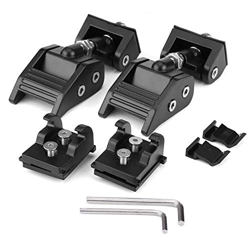 Hood Catch Jeep Wrangler - Original Hood Latches Hood Lock Catch Latches Kit for 2007-2018 Jeep Wrangler JK and JKU by Copotion (Image #4)