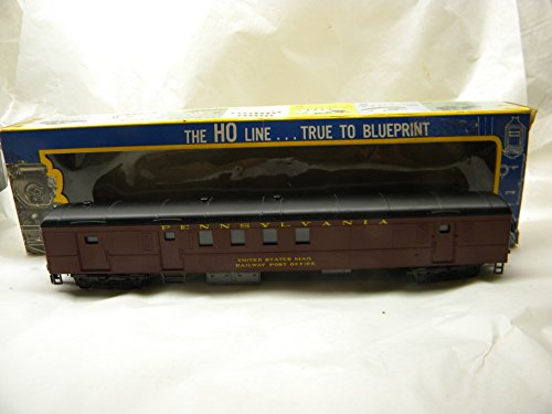 AHM HO Scale 6422 Pennsylvania 1930 Railway Post Office 72 Foot Pullman Car