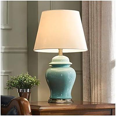 YLGROUP G-YL9 Lámpara de Mesa, Dormitorio Americano, lámpara de ...