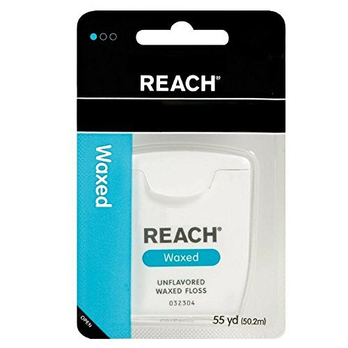 Waxed Reach Floss Mint (REACH Unflavored Waxed Dental Floss, 55 yds (Pack of 5))